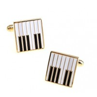 Gold Piano Key Cufflinks