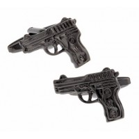 Black Gun Metal Gun Cufflinks