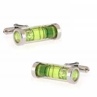 Green Spirit Level Cufflinks