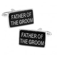 Black Square Father of the Groom Wedding Cufflinks