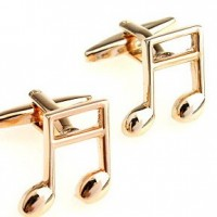 Gold Quaver Music Note Cufflinks
