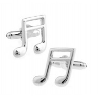 Silver Quaver Music Note Cufflinks