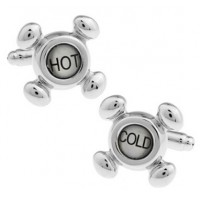 Hot and Cold Tap Cufflinks