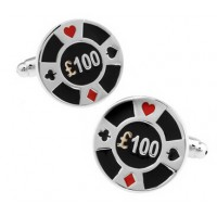 Casino Gambling Chip Cufflinks