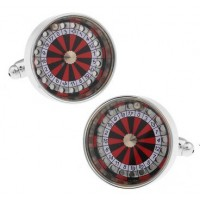 Casino Roulette Shakable Cufflinks